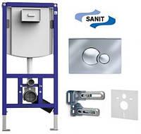 Инсталляционная система Sanit INEO для подвесного унитаза с кнопкой креплениями и прокладкой 90.721.00.S002
