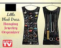 Органайзер платье для бижутерии и аксессуаров Hanging Jewelry Organizer Little Black Dress купить в Украине