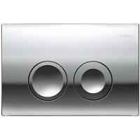 Клавиша смыва Geberit Delta21 115.125.21.1, двойной смыв, пластик, хром глянец