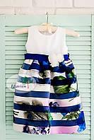 Нарядное детское платье Flavien 7022 р.80 бирюзовый 7022/01