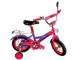 """Велосипед 2-х колёсный 12"""" со звонком, зеркалом и без ручного тормоза (Китай)"""