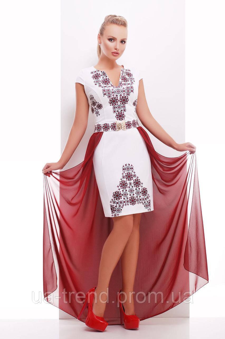 a30b52984aa Нарядное платье с шифоновой юбкой - Интернет-магазин украинского текстиля