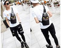 Мужская кожаная сумка. Модель 63338, фото 6