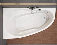 Ванна акриловая асимметричная Cersanit Joanna New 140x90см. левая/правая с ножками