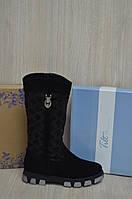Сапоги женские зимние кожаные Натуральный замш