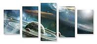 Модульная картина планета и спутник