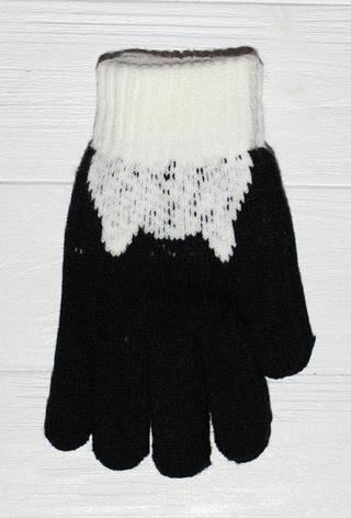 Детские теплые красивые вязанные перчатки рукавички, фото 2