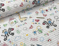 Ткань польский хлопок детские рисунки