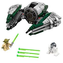Конструктор Лего Оригинал звездные войны истребитель Йоды  LEGO Star Wars Yoda's Jedi Starfighter 75168