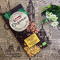 Torras ORGANIC, chocolate Negro con Sesamo Tostado & Polen, 100 g