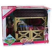 Лошадь с куклой и аксессуарами детский игровой набор MZT8982