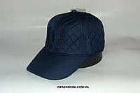 Бейсболка мужская утеплённая BILLIONAIRE 155-17 тёмно-синяя, фото 1