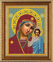 Схема для вышивки бисером икона Богородица Казанская