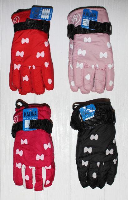 Подростковые теплые красивые перчатки рукавички