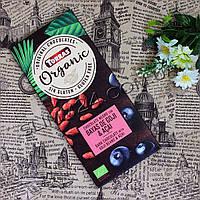 Torras ORGANIC, chocolate Negro con BAYAS de GOJI & ACAI, 100 g. Черный шоколад  с ЯГОДАМИ ГОДЖИ И АСАИ