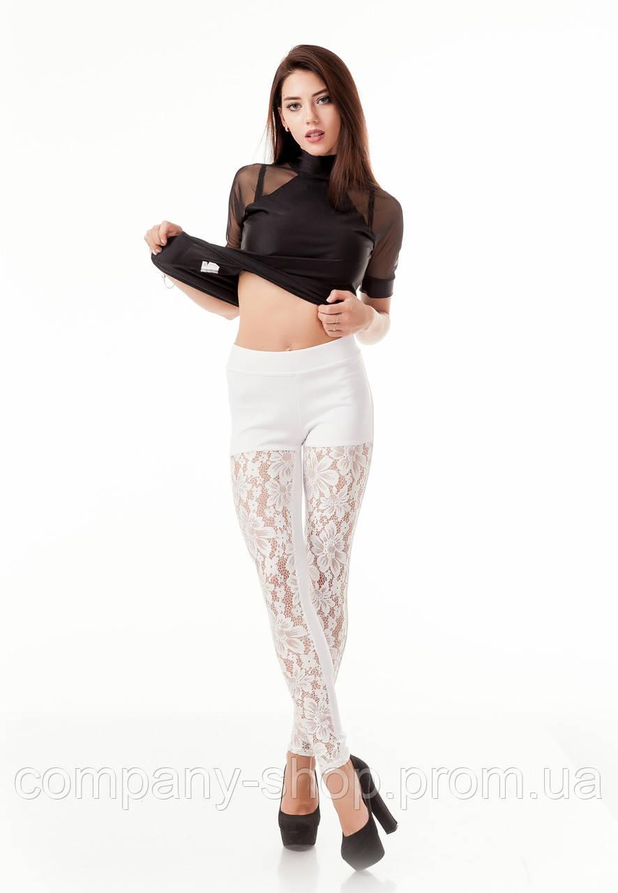 6964757f2f31b Леггинсы лосины коктейльные белые. Модель L085_белый. - ТМ Leya -  производство женской одежды в