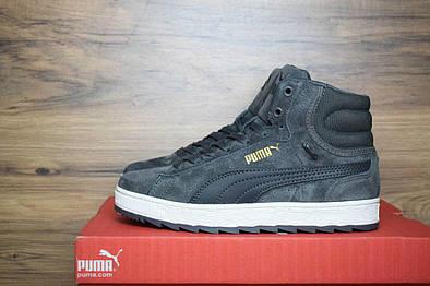 Женские зимние кроссовки Puma Rihanna Suede Grey  продажа, цена в ... 887fcb2c521