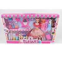 Кукла с нарядом 34168C (24шт) 28см,платья 14шт,обувь,чемодан,аксессуары,микс видов,в кор,54-32,5-6см