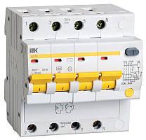 Диференційний автомат ІЕК АД14 4Р 16А 30 мА (MAD10-4-016-C-030)