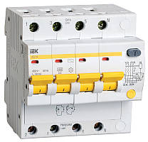 Диференційний автомат ІЕК АД14 4Р 25А 30 мА (MAD10-4-025-C-030)