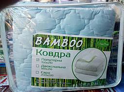 Теплое зимнее двухспальное бамбуковое одеяло, фото 2