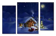 Модульная картина Санта Клаус