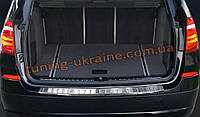 Накладка на задний бампер с бортиком и ребрами для BMW X3 F25 послерестайл 2014