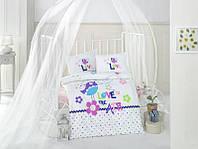 Постельное белье в детскую кроватку Хлопок (TM Clasy) happy-bird, Турция