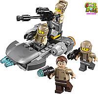 Конструктор Лего 4-е Фигурки и звездолет Повстанцев LEGO Star Wars Resistance Trooper Battle Pack 75131