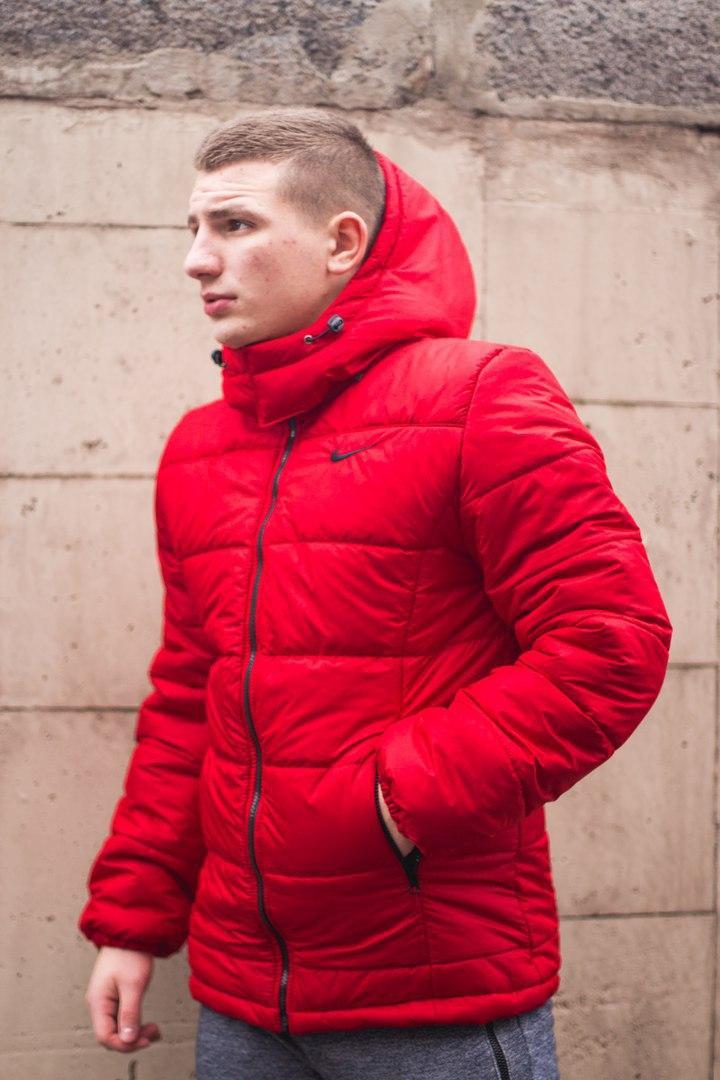 Мужская куртка Nike Red Осень-Зима