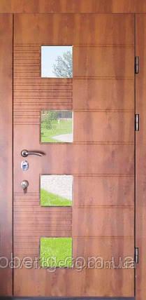 Дверь входная со стеклом золотой дуб 501, фото 2