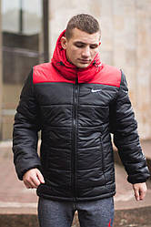 Мужская куртка Nike Black-Red Осень-Зима
