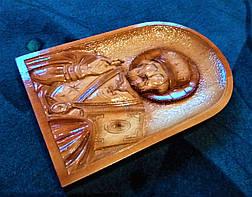 Икона Николая Чудотворца ручной работы, фото 3