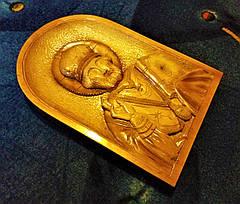 Икона Николая Чудотворца ручной работы, фото 2