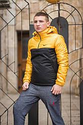 Мужская куртка Nike Black-Gold Осень-Зима