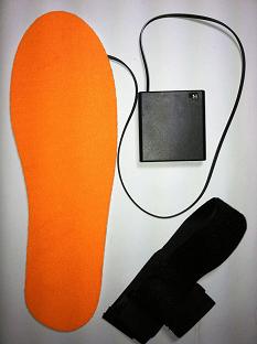 """Стельки с подогревом проводные """"Eco-obogrev-S3 4AA"""" на батарейках типа АА (пальчик), до 12 часов тепла, до 60С"""