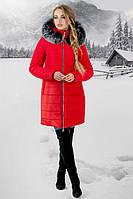 Зимняя куртка Флорида (красная серый мех)