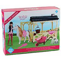 Лошадь с куклой и аксессуарами детский игровой набор MZT8983