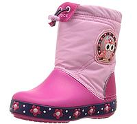 Сапоги crocs для девочки Crocs Lights Lodge Point Night Owl Slip-On