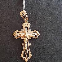 Крест золотой Триумф белое и красное золото вес 5.52 грамм