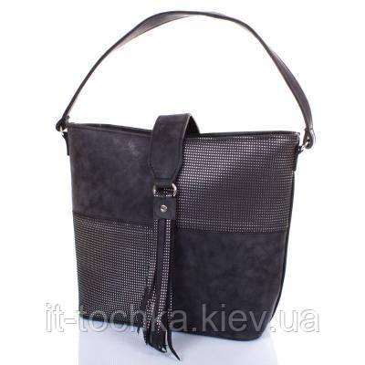 Женская сумка с ручкой eterno etzg18-17-9 черный кожзам