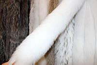 Мех на капюшон пуховика, куртки из спинки песца 80 см