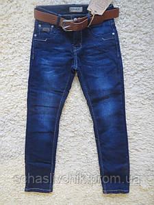Зимние  джинсы на флисе для мальчиков подростков с Венгрии оптом , размер 116-146, фирма Grace