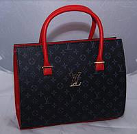 Женская каркасная черная сумка c красными вставками LOUIS VUITTON, Луи Виттон