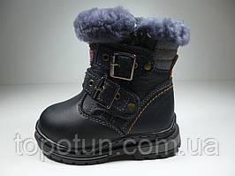 Ботинки для мальчиков EeBb кожаные с прошивкой Размер: 23,24,