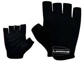 Велосипедные перчатки LONGUS SOFTY черные (велоперчатки)
