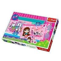 Пазлы 16502 (12шт) Trefl, Hasbro, Littlest Pet Shop, Домашние зверьки, меняют цвета, 2 по 50дет,