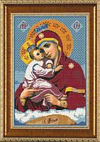 Схема для вышивки бисером икона Богородица Почаевская