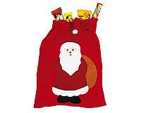 Мешочек Деда Мороза для Подарков Новогодний Мешок 60 х 40 см для Атмосферы Нового Года Рождества