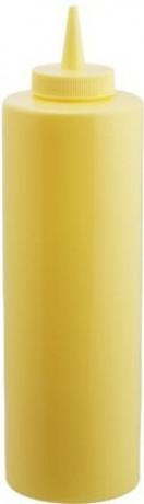 Диспенсер 700 мл. для соусов и сиропов (желтый) EMPIRE М-7081